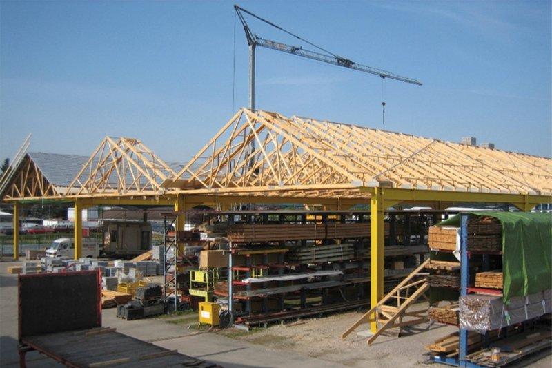 Wiązany dachowe w przemyśle.